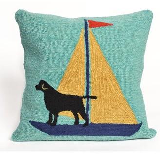 Walton Breakwater Bay Sailing Dog Throw Pillow Breakwater Bay