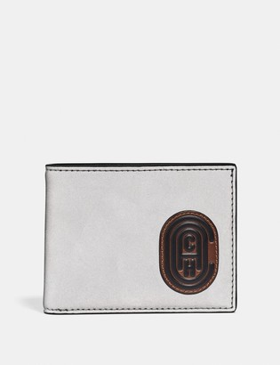 Coach Slim Billfold Wallet With Patch