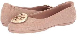 Tory Burch Quilted Minnie (Goan Sand/Gold) Women's Shoes