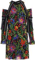 3.1 Phillip Lim Pleated Sleeve Floral Crepe Dress