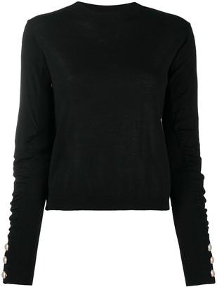 Liu Jo Ruched-Sleeves Wool-Blend Jumper