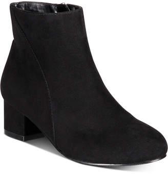 INC International Concepts Inc Little Girls Floriann Block-Heel Booties, Women Shoes