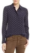 Vince Dot-Print Silk Shirt