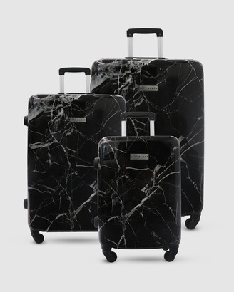Jett Black Black Marble Series Luggage Set
