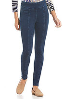 Multiples Wide Band Seamed Knit Pull-On Leggings