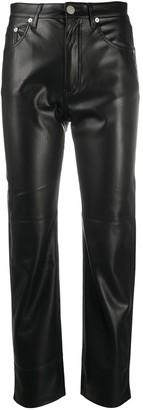 Nanushka Faux-Leather Trousers