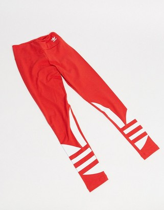 adidas adicolor leggings in red