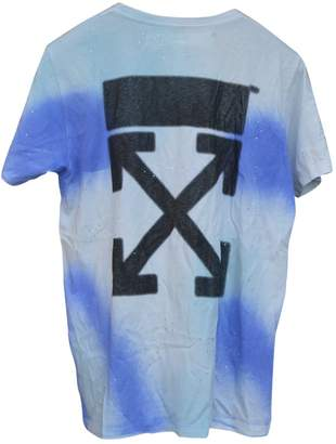 Off-White Off White Blue Cotton T-shirts
