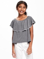 Old Navy Ruffle-Trim Swing Top for Girls