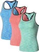 jeansian Women's 3 Packs Quick Dry Compression Tank Top Vest SMF002 PackB L