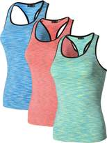 jeansian Women's 3 Packs Quick Dry Compression Tank Tops Vests SMF001 PackG M