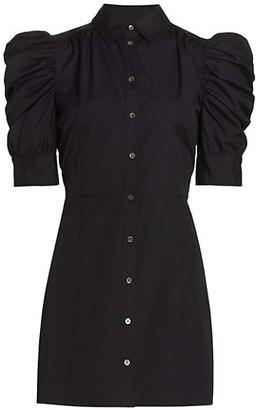 Frame Gillian Ruched Short-Sleeve Bodycon Shirtdress