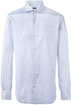 Barba pleated cuffs shirt