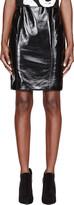 Jonathan Saunders Black Vinyl Elina Pencil Skirt