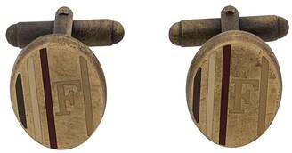 Gianfranco Ferré Pre Owned 2000s Logo Printed Oval Cufflinks