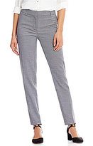 Jones New York Grace Tapered Straight-Leg Birdseye Dobby Pattern Pants