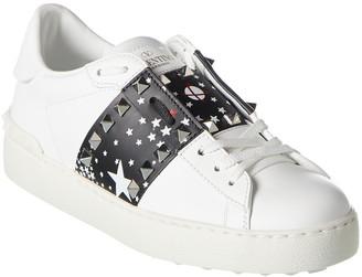 Valentino Rockstud Leather Sneaker