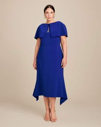 Reem Acra Crepe Dress with Swing Hem