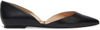 Sam Edelman Rodney Textured-leather Point-toe Flats