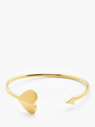 Kate Spade Arrow Heart Open Bangle, Gold
