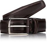 Ermenegildo Zegna Men's Leather Belt-BROWN