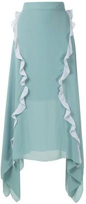 Olympiah Mix Mosaicos ruffle skirt