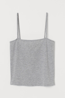 H&M Cropped jersey strappy top