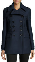 Burberry Milbridge Wool Twill Pea Coat