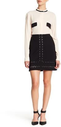 Amanda & Chelsea Laser Cut Ponte Skirt (Petite)