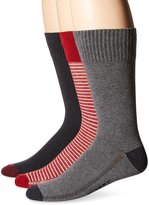 Levi's Men's 3-Pack Vintage Stripe and Solid Crew Socks