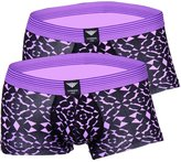 Godsen Men's 2 Pack Boxer Underwear Low-Rise Briefs (L, GSQ01-)