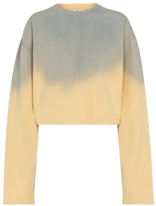 Acne Studios Tie-dye cropped cotton sweatshirt