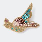 Des Petits Hauts Lola Bird Brooch, Multi