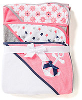 Starting Out 3-Pack Nautical Hooded Bath Towel Set