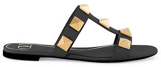 Valentino Roman Stud Leather Slides