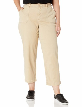 NYDJ Women's Size Plus Straight Ankle Chino Pant
