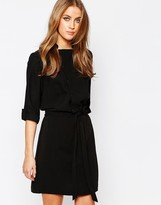 Warehouse Popper Front Shirt Dress