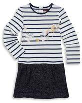 Catimini Toddler's & Little Girl's Glittered Stripe Cotton Dress