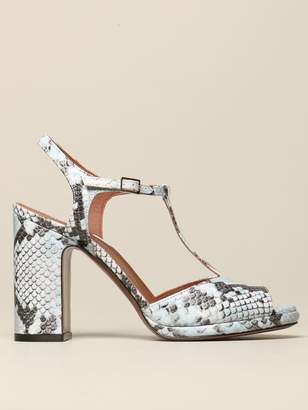 L'Autre Chose Sandal In Python Leather