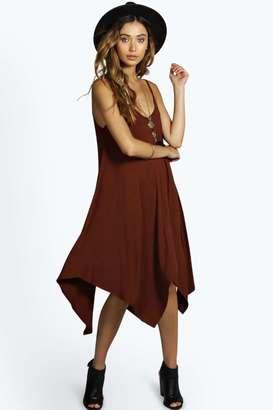boohoo Jen Asymmetric Nem Strappy Swing Dress