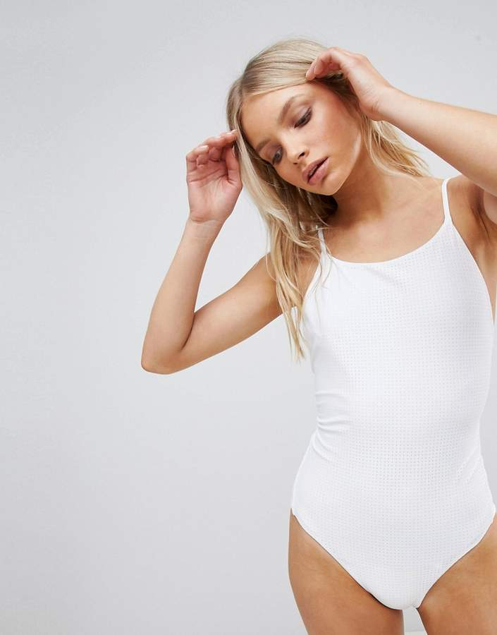 High Neck Scoop Back Swimsuit