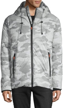 Hooded Camo Puff Jacket