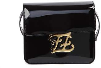 Fendi Black Karligraphy Bag In Patent Leather