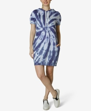Ultra Flirt Juniors' Tie Dye Hoodie Dress