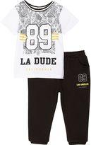 River Island Mini boys 89 shirt and jogger set