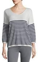 Ply Cashmere Striped Cashmere Sweater