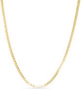 "Zales Men's 14K Gold 1.6mm Box Chain Necklace - 30"""