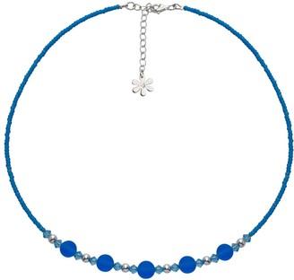 Swarovski Amanti Venezia Aqua Bead and Sterling Silver Necklace of Length 41-45 cm