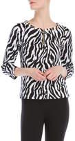 Rafaella Petite Zebra Grommet Top