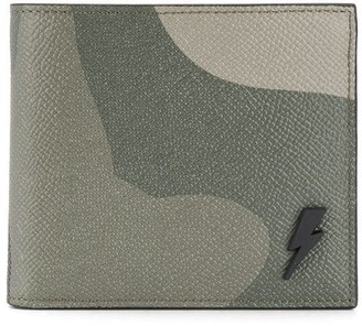 Neil Barrett Camouflage Print Leather Wallet